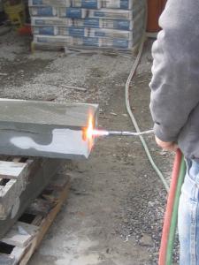 Applying-thermal-finish