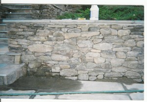 Field-stone-wall